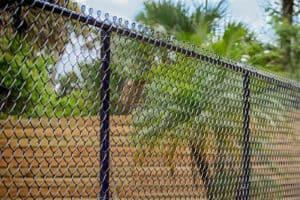 Coated black fence