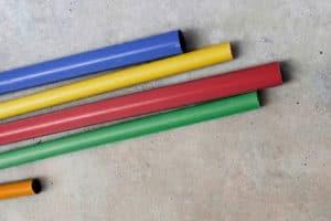 Colored electrical metallic tubing