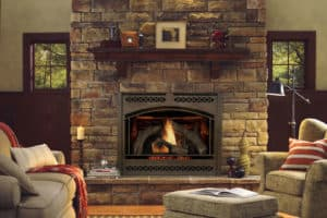 Hearth & Home Heat & Glo 8000CLX gas fireplace