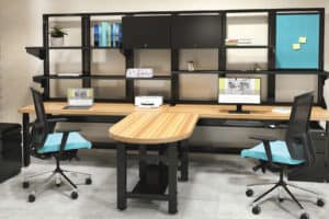 Mayline TechWorks bench room set
